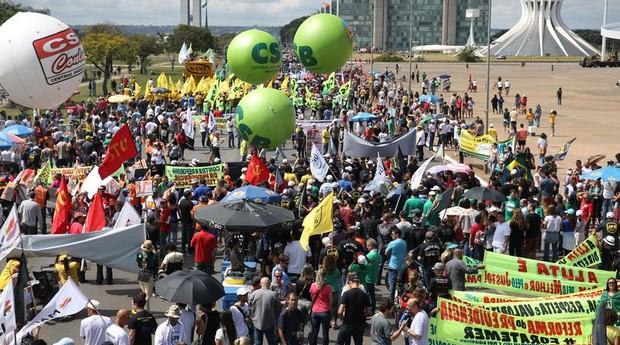 Greve geral teve protestos em todo o país (Foto: Agência Brasil)