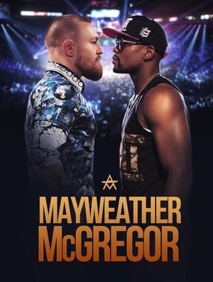 montagem Conor McGregor x Floyd Mayweather (Foto: Reprodução/Twitter)