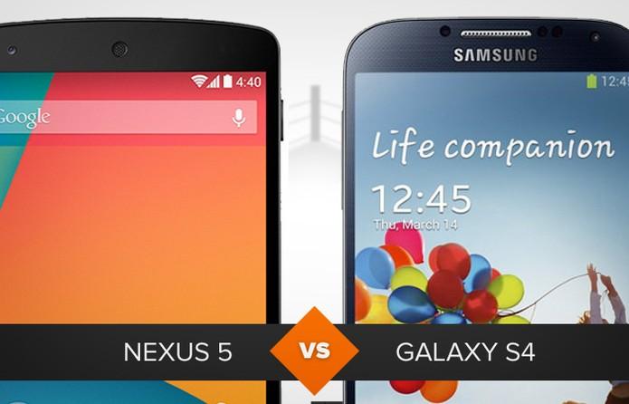 Nexus 5 ou Galaxy S4? Descubra qual é o melhor no comparativo de celular (Foto: Arte/TechTudo)