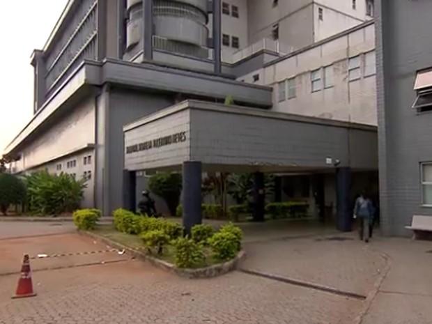 Fachada do Hospital Risoleta Neves, em BH (Foto: Reprodução / TV Globo)