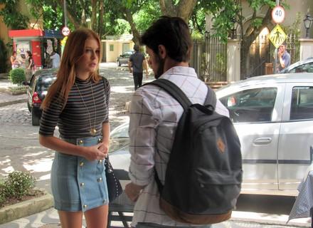 Eliza vai falar de Arthur, mas Jonatas corta: 'Não precisa falar mais'