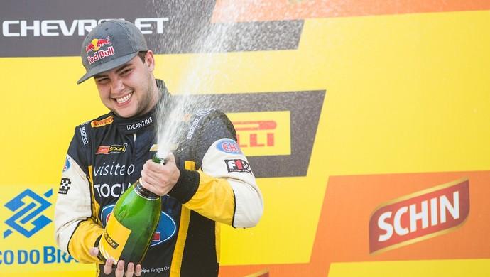 Felipe Fraga voltou a sentir o gosto do pódio na Stock Car em Salvador (Foto: Bruno Terena/Red Bull Content Pool)