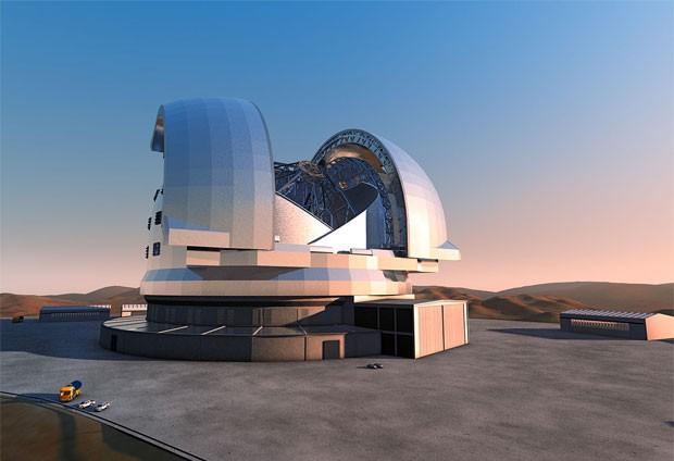 Projeto do E-ELT, de cuja construção empresas poderão participar se o ingresso do Brasil no ESO for ratificado pelo Congresso (Foto: ESO/Divulgação)