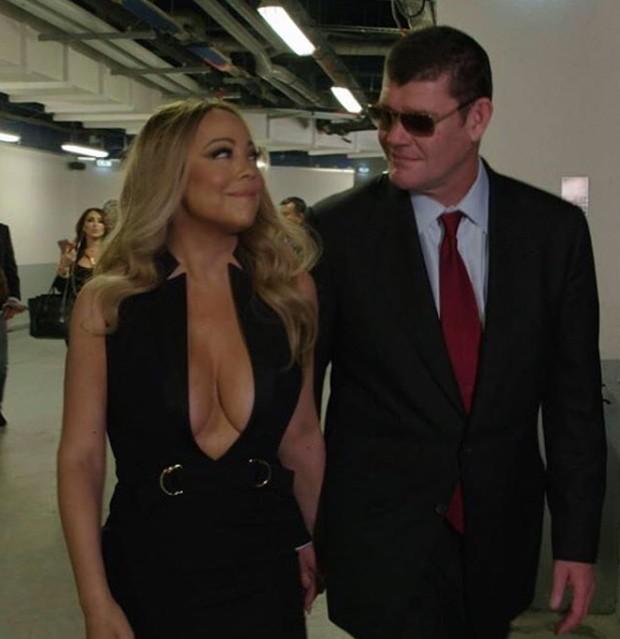 Mariah Carey com o noivo  (Foto: Reprodução)