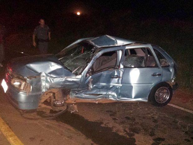 Acidente ocorreu em trecho de rodovia entre Taquarituba e Itaí (Foto: Gazeta em Foco)