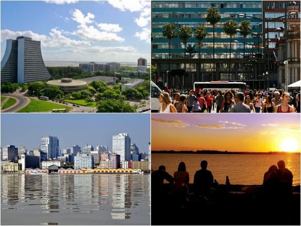 Porto Alegre completa 245 anos neste domingo, dia 26 de março (Foto: Montagem sobre fotos/PMPA)