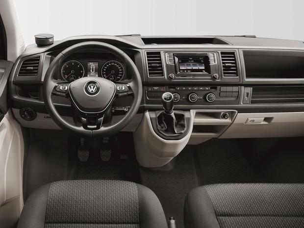 Interior do Volkswagen T6 (Foto: Divulgação)