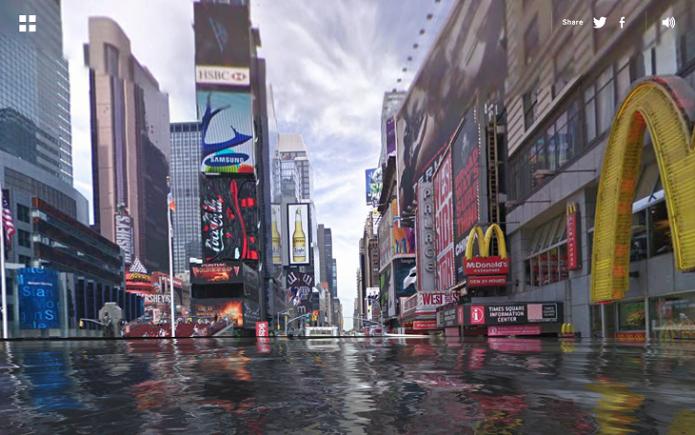 Nova York Inundada (Foto: Reprodução/Edivaldo Brito)