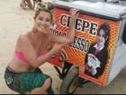 De férias no nordeste, curitibana vê a própria foto em carrinho de crepe