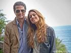 Marcelo Serrado e Gabriela Gomes, no papel de prostituta, gravam em praia