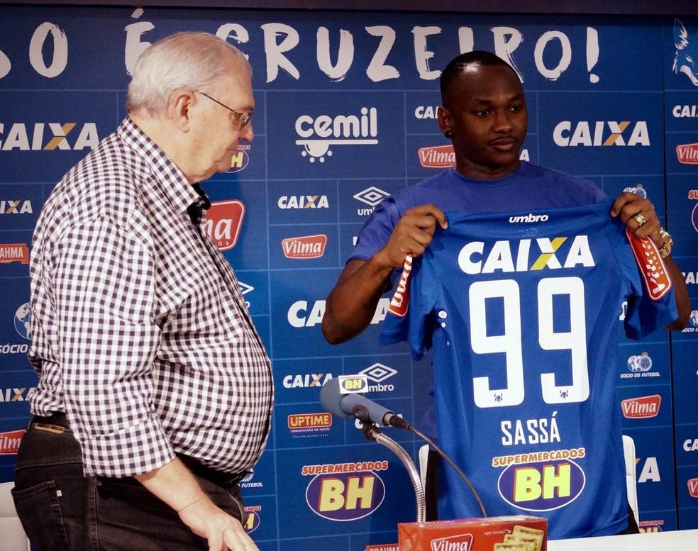 Sassá vestirá a camisa 99 no Cruzeiro (Foto: Divulgação/CEC)