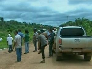 Pedágios foram destruídos na sexta-feira (27) (Foto: Reprodução/Globo News)