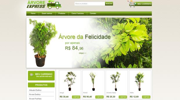 A Árvore da felicidade é uma das mais vendidas no site (Foto  Divulgação) c99d0ff2d1d23