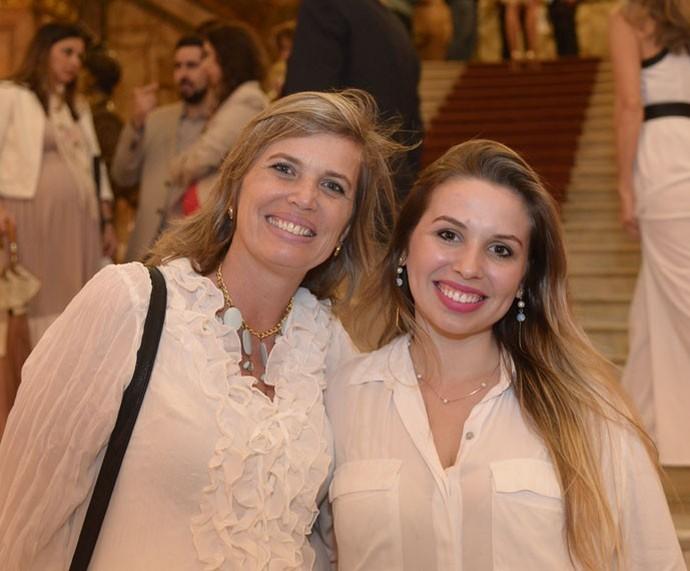 Mãe e filha na gravação do Especial (Foto: Ellen Soares/Gshow)