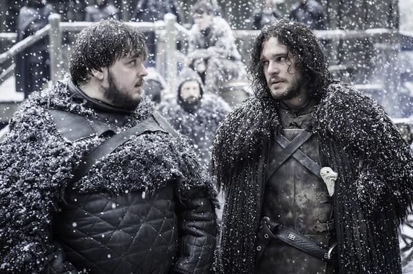 John Bradley (Samwell Tarly) e Kit Harington (Jon Snow) em Game of Thrones (Foto: Reprodução)