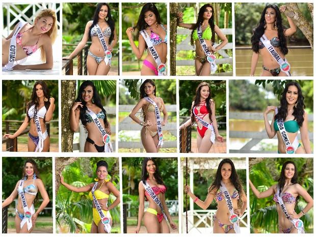 15 mulheres concorrem ao título de Miss Amapá 2015 (Foto: Rafael Salman/Divulgação)