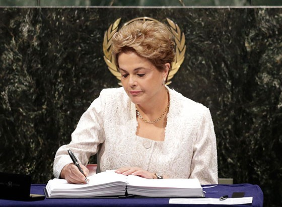 Dilma Rousseff (Foto: AP Photo/Mark Lennihan)