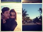 Giovanna Lancellotti e Arthur Aguiar curtem viagem romântica em Miami