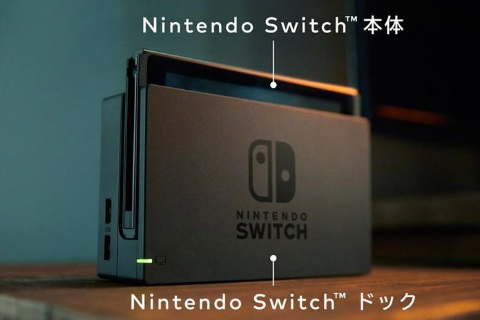 No japonês, Nintendo Switch Hardware e Nintendo Switch Dock (Foto: Divulgação/Nintendo)