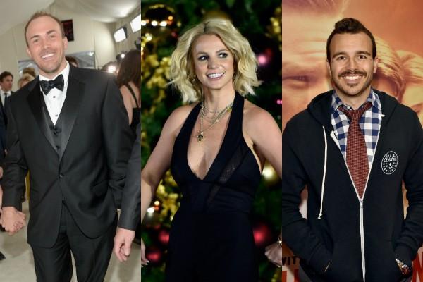 David Lucado, Britney Spears e Charlie Ebersol (Foto: Getty Images)