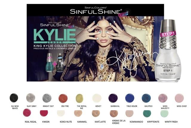 Kylie Jenner lança linha de esmaltes com a SinfulColors (Foto: Divulgação)