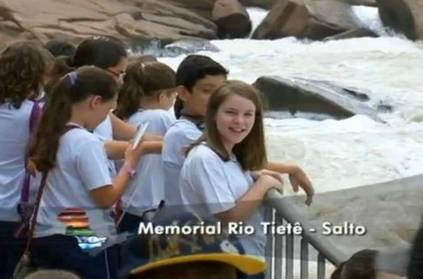 Estudantes visitam o Memorial do Rio Tietê no município de Salto, SP (Foto: Reprodução / TV TEM)