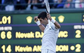 Djokovic empata e tem reação contra Anderson interrompida por falta de luz
