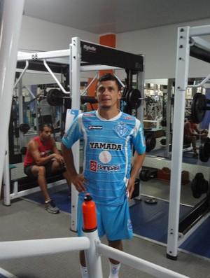 Ricardo Capanema, volando do Paysandu, em treinamento na academia (Foto: GLOBOESPORTE.COM)