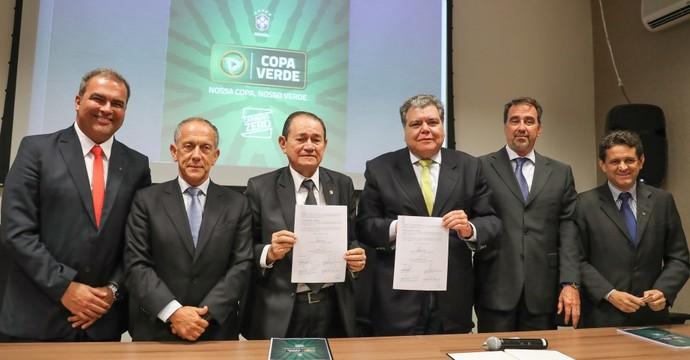 CBF, protocolo de intenções, Copa Verde (Foto:  Ricardo Stuckert / CBF)