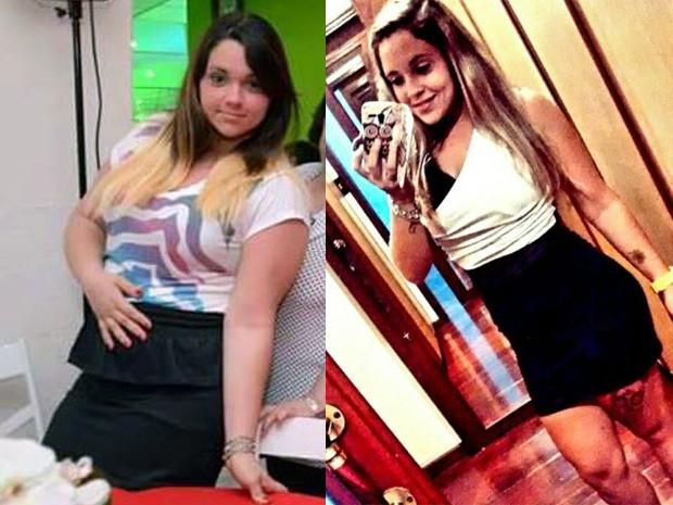 Recepcionista mudou radicalmente sua rotina e perdeu peso (Foto: Arquivo Pessoal/ Priscila Assis)