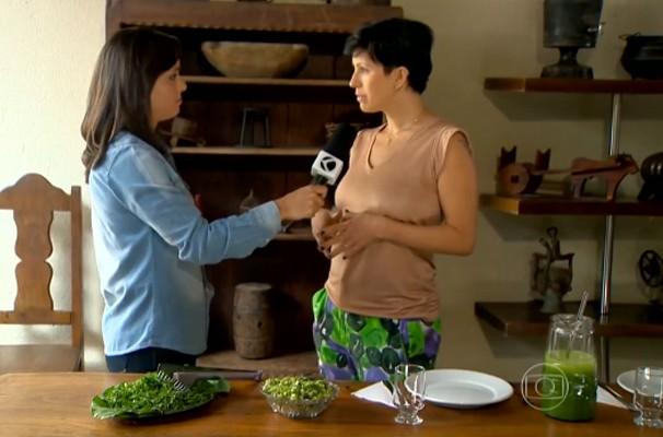 A repórter Valéria Almeida, mostrou no Bem Estar, vários tipos de preparar o legume (Foto: Reprodução   TV Integração)