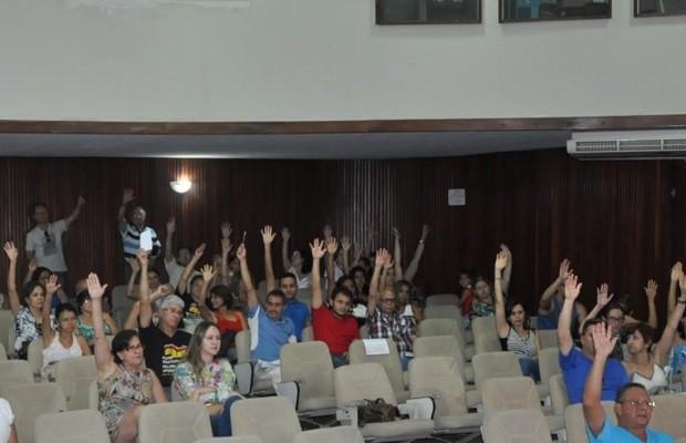 Após assembleia, servidores do INSS decidem suspender a greve Goiânia Goiás (Foto: Reprodução/Sintfesp-GO/TO)