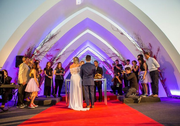 Cristiana Cartolano e Leonardo Veloso se casaram no Rock in Rio (Foto: Arquivo Pessoal)
