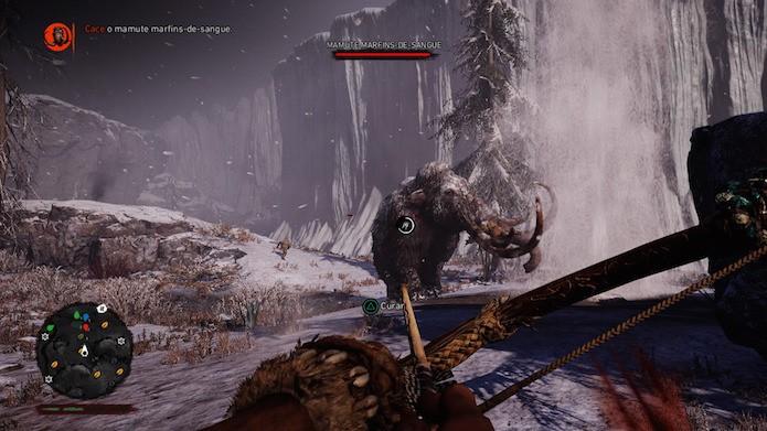 Far Cry Primal: como caçar o mamute marfins-de-sangue (Foto: Reprodução/Victor Teixeira)