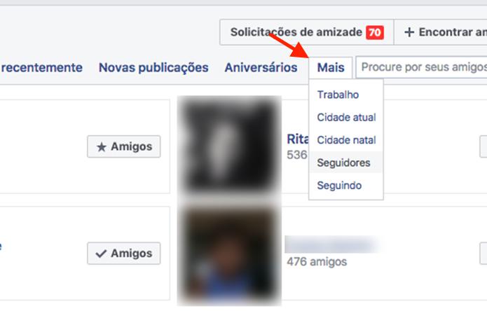Opção para visualizar outras listas de amigos para desfazer amizade no Facebook (Foto: Reprodução/Marvin Costa)