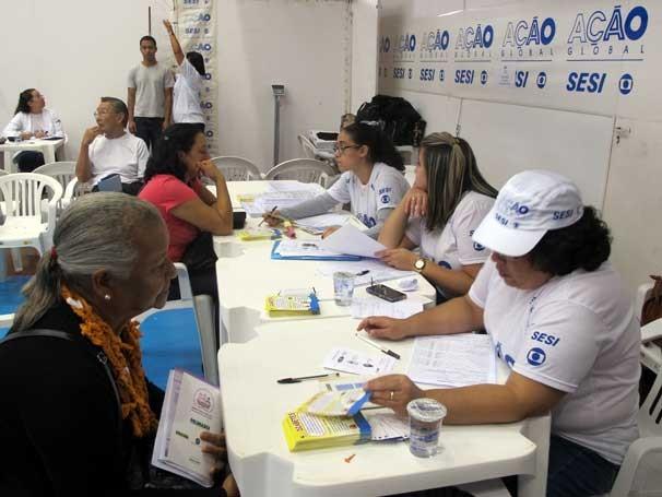 A emissão de documentos é um dos serviços mais procurados pelo público da Ação Global Nacional em Osasco (Foto: Divulgação/Teresa Tavares)