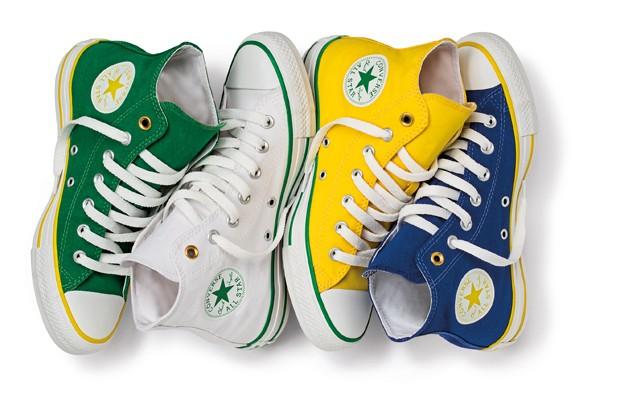 d816e1454473 No clima da Copa  Converse lança linha de tênis com as cores do ...