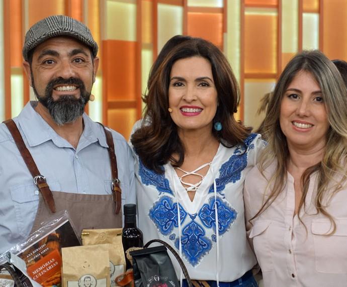 Convidados que participaram do programa com a Fátima  (Foto: Vinícius Cunha/Gshow)