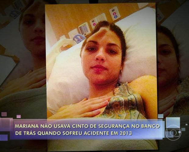 Mariana Cortines sofreu traumatismo craniano (Foto: TV Globo)