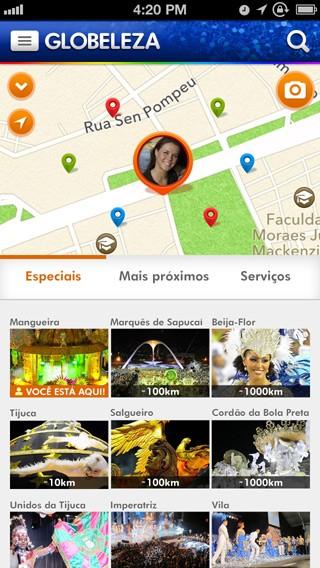 A tecnologia calcula as melhores rotas e mostra serviços importantes (Foto: Rede Globo)