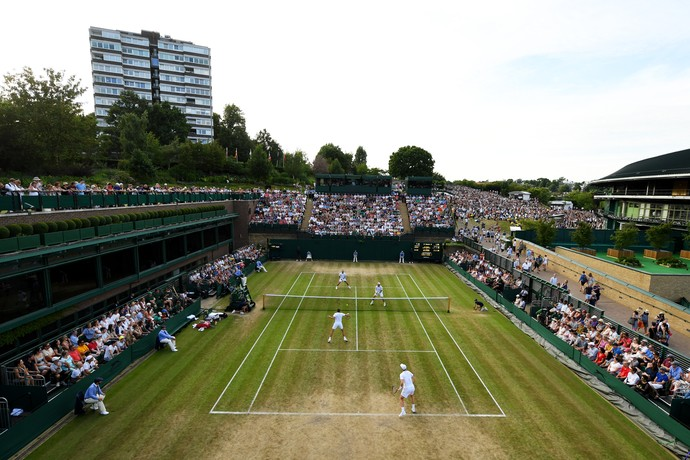 Visão geral da quadra 18 de Wimbledon (Foto: Shaun Botterill / GETTY IMAGES EUROPE / Getty Images/AFP)