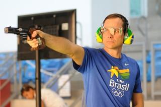 Emerson Duarte em ação na Copa do Mundo, evento-teste em Deodoro (Foto: Rossana Fraga \ Divulgação CBTE)