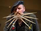 Participantes exibem barbas em formatos curiosos na Alemanha