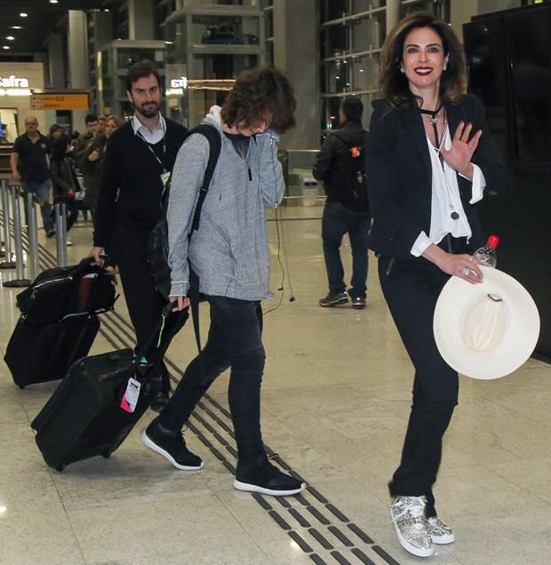 Luciana Gimenez e Lucas jagger (Foto: Marcos Ferreira /Brazil News)