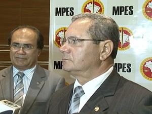 Promotores do Ministério Público que investigam pastores da Maranata. (Foto: Reprodução/TV Gazeta)