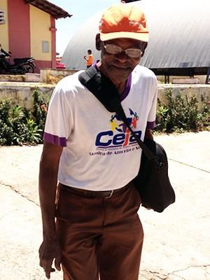 Velhinho de 101 anos de Cuiabá (Foto: Kelly Martins/G1)