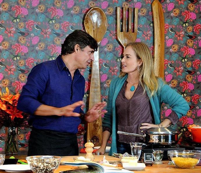 Olivier ensina duas receitas para Angélica (Foto: Arquivo Pessoal)