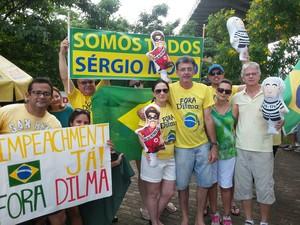 Manifestação contra a presidente Dilma em Teresina às 16h30 (Foto: Ellyo Teixeira/G1)