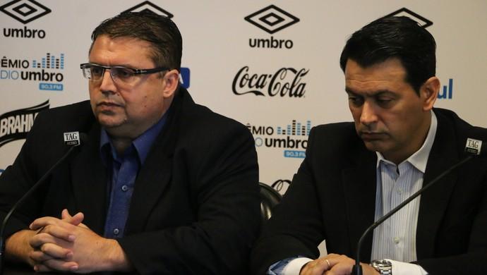 Júnior Chávare e Rui Costa Grêmio (Foto: Eduardo Moura/GloboEsporte.com)