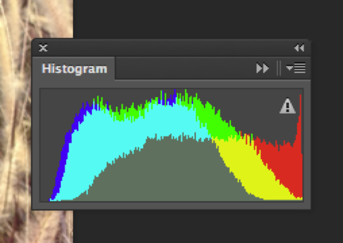 Histograma com problema de distribuição de cores (Foto: Reprodução/André Sugai)